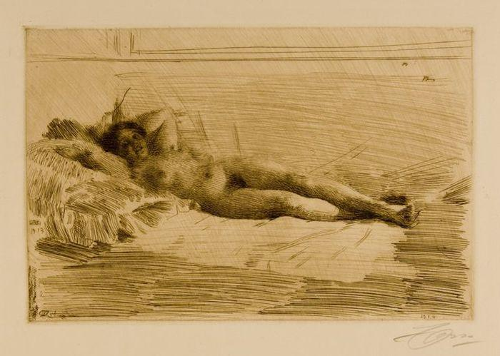 famous painting Elin of Anders Leonard Zorn