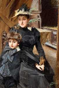 Anders Leonard Zorn - Mrs. Weguelin and her Son