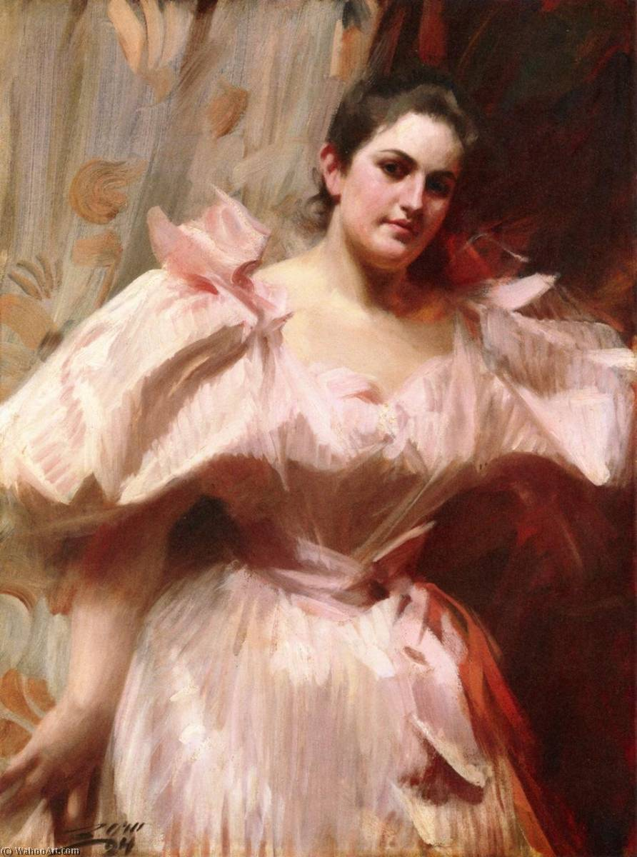 famous painting Frieda Schiff, later Mrs. Felix M. Warburg of Anders Leonard Zorn