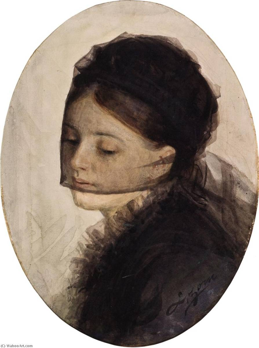 famous painting In Mourning of Anders Leonard Zorn