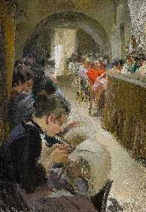 Anders Leonard Zorn - Lace making in Venice