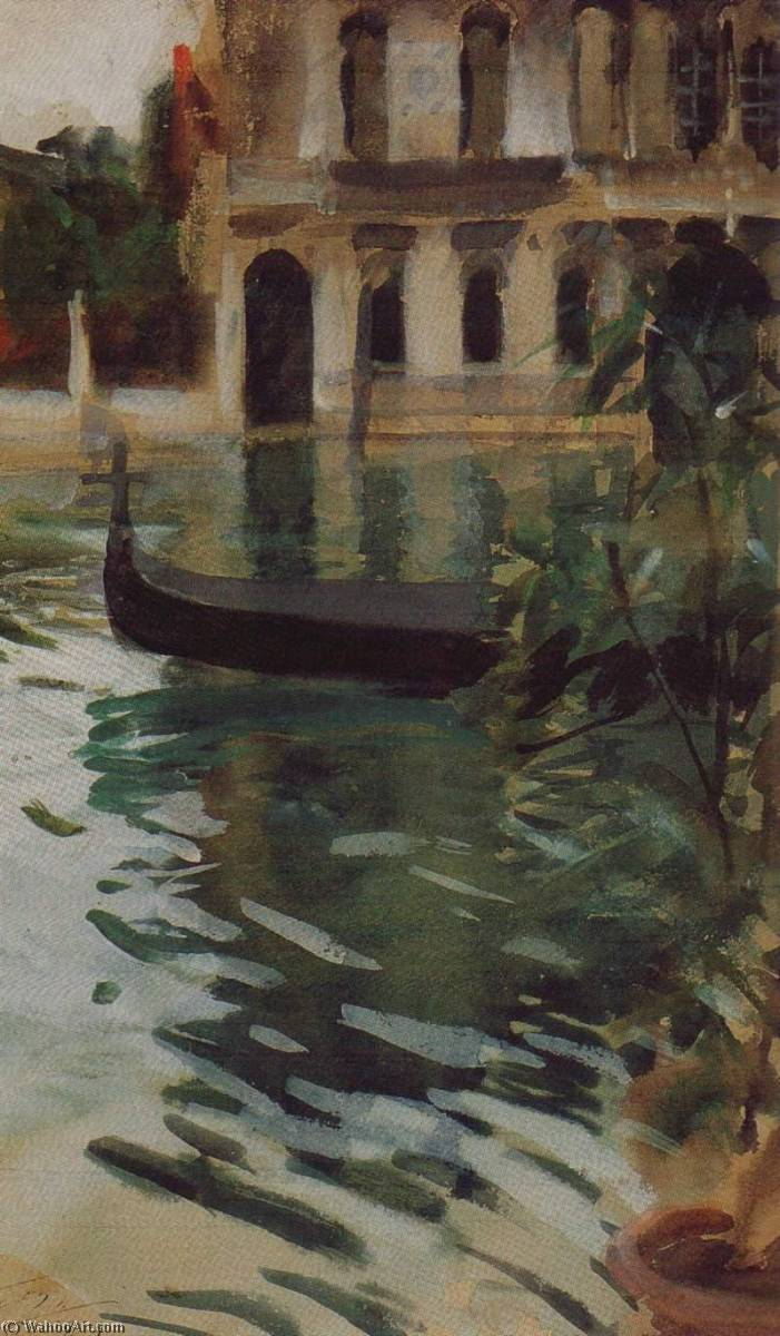 famous painting Gondola in Front of the Palazzo Barbaro of Anders Leonard Zorn