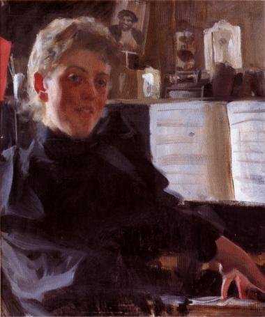 famous painting Augusta Gran of Anders Leonard Zorn