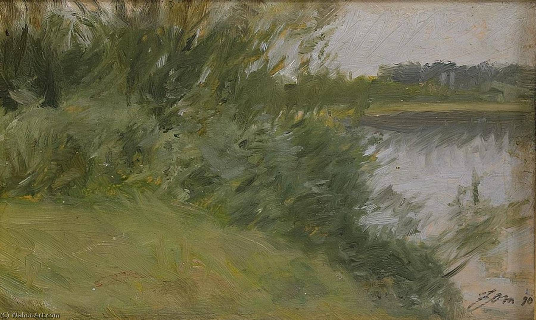 famous painting Island in Saxviken of Anders Leonard Zorn