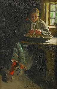 Anders Leonard Zorn - Peeling potatoes
