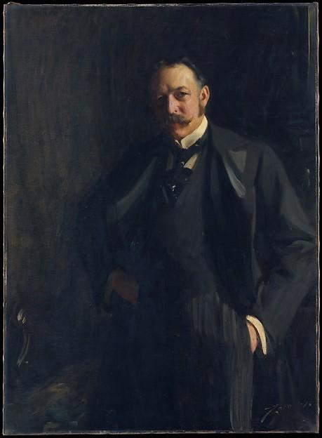 famous painting Edward R. Bacon (1846 1915) of Anders Leonard Zorn