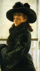 James Jacques Joseph Tissot - Mavourneen (also known as Portrait of Kathleen Newton)