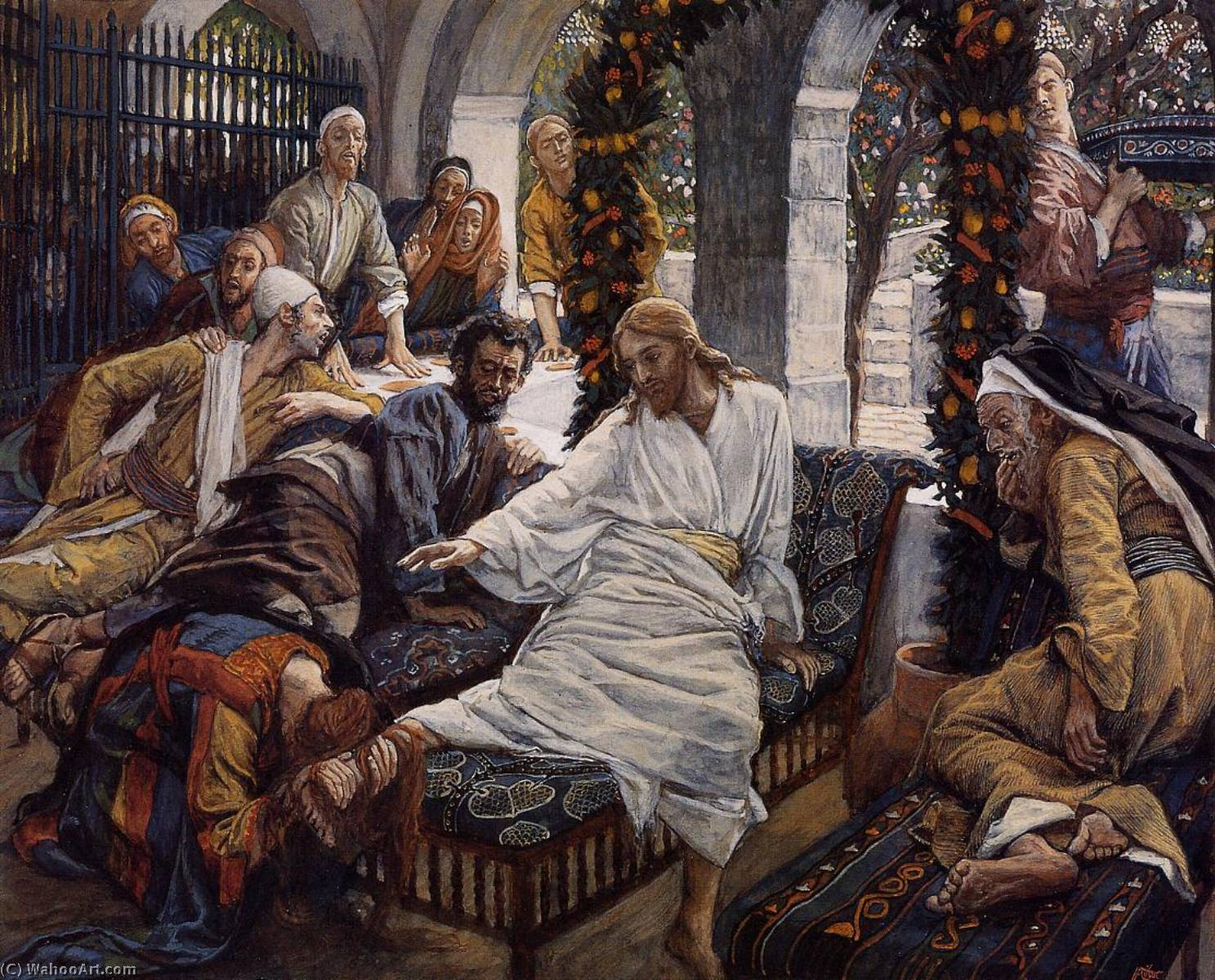 famous painting Mary Magdalene's Box of Very Precious Ointment of James Jacques Joseph Tissot