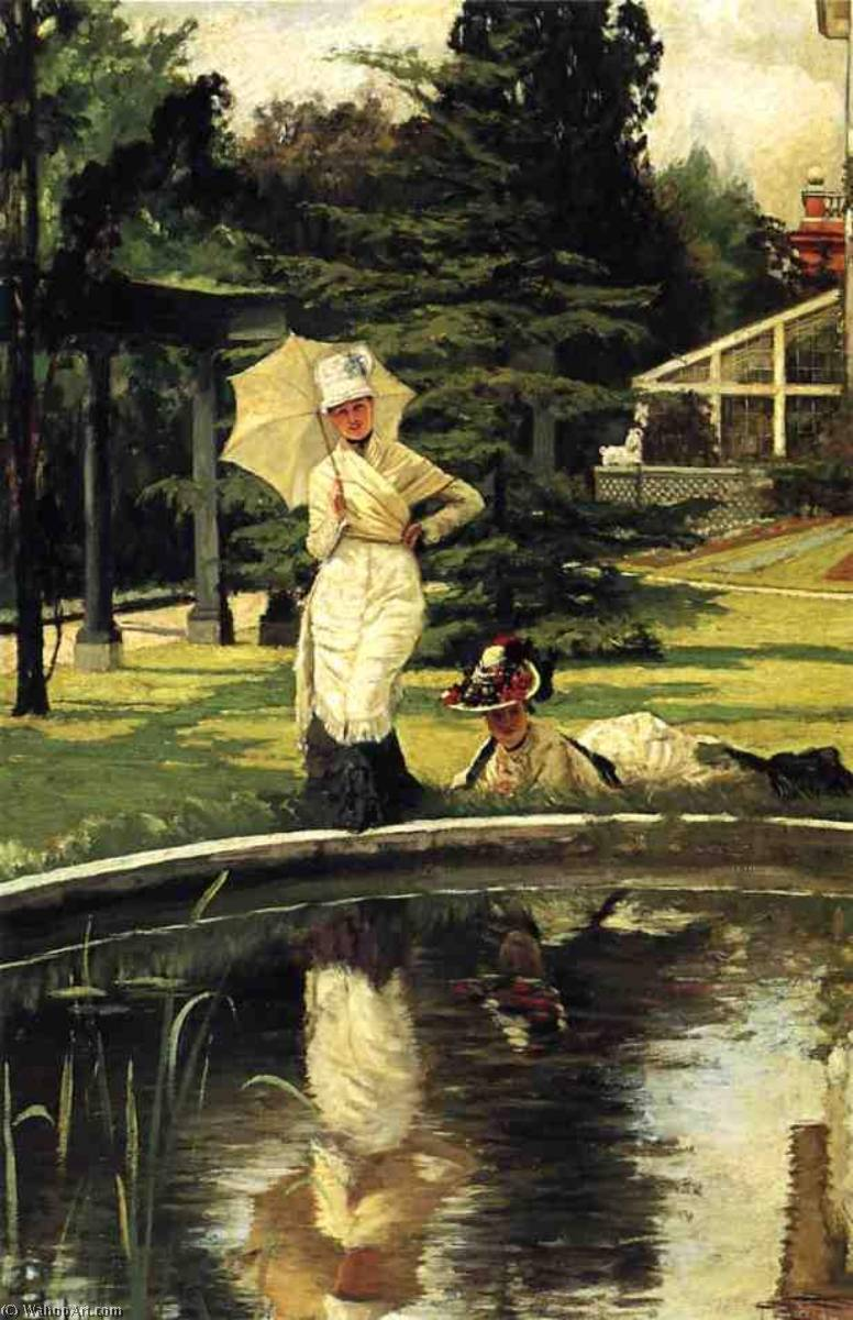 famous painting In an English Garden of James Jacques Joseph Tissot