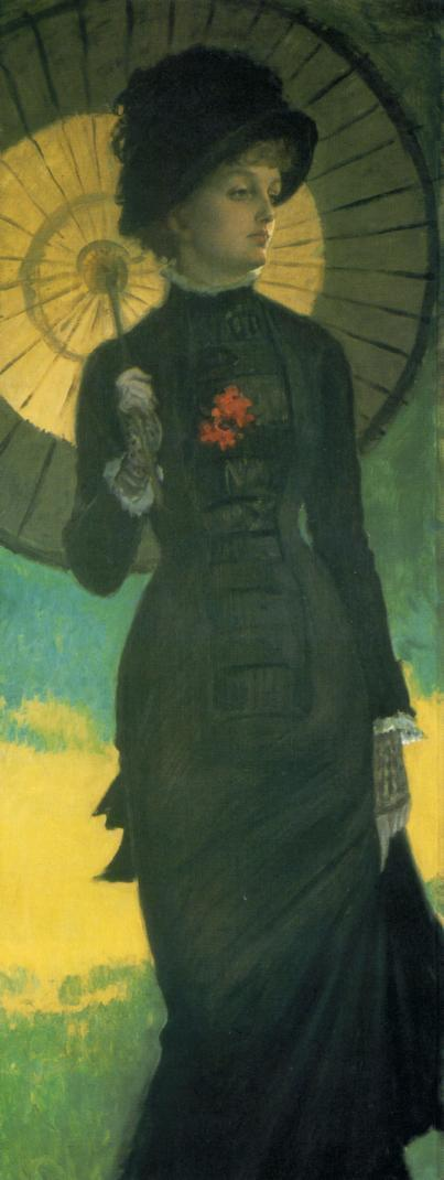 famous painting Mrs. Newton with a Parasol of James Jacques Joseph Tissot