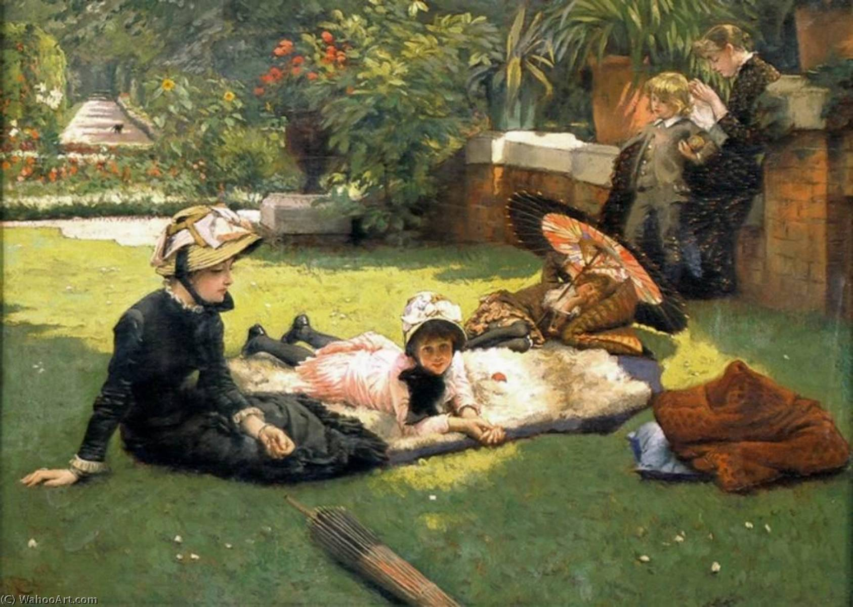 famous painting Kathleen Newton in the Garden of James Jacques Joseph Tissot
