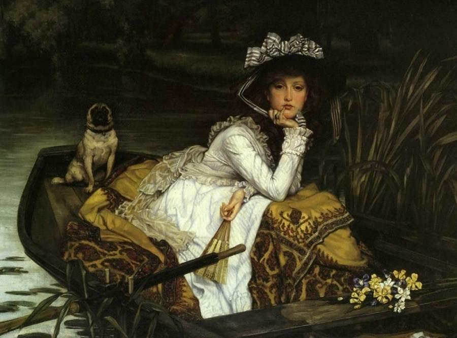 famous painting Young Lady in a Boat of James Jacques Joseph Tissot