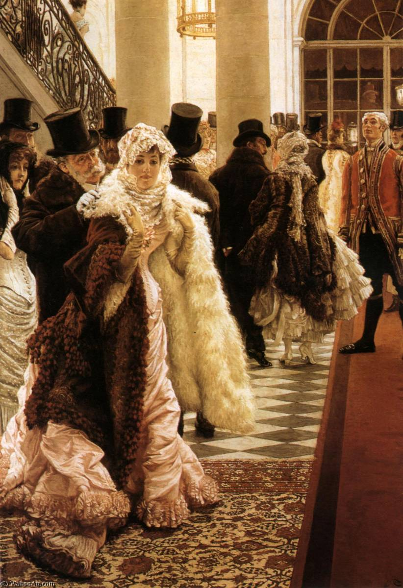 famous painting English The Woman of Fashion of James Jacques Joseph Tissot