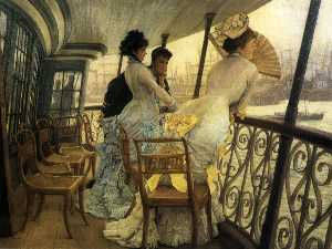James Jaques Joseph Tissot - The Gallery of HMS Calcutta (Portsmouth)