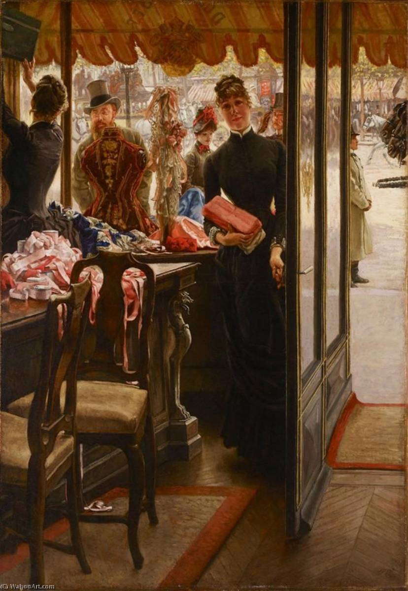 famous painting English The Shop Girl of James Jacques Joseph Tissot