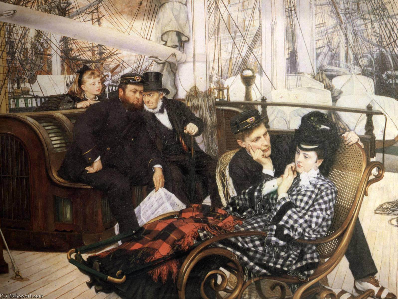 famous painting The Last Evening of James Jacques Joseph Tissot