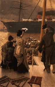 James Jaques Joseph Tissot - English Goodbye on the Mersey