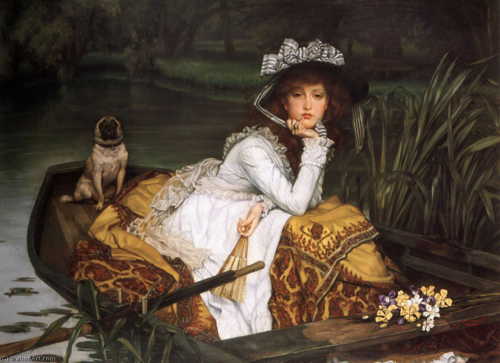 famous painting English Young Lady in a Boat of James Jacques Joseph Tissot