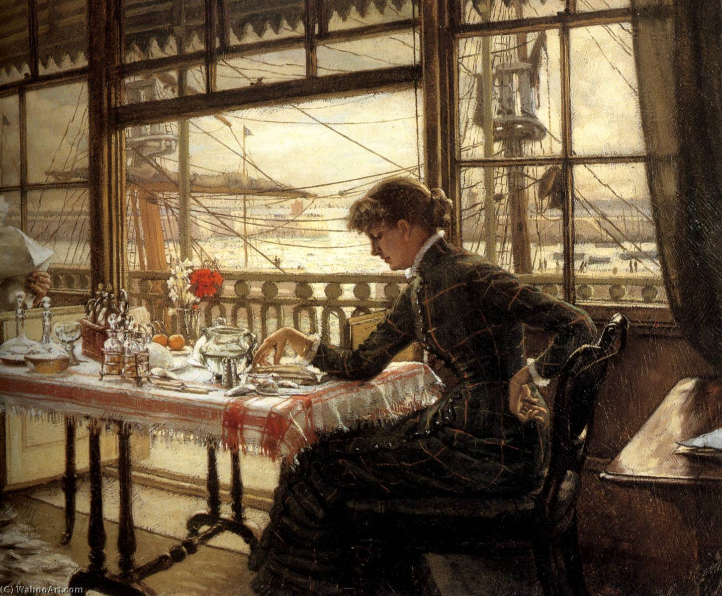 famous painting English Room Overlooking the Harbour of James Jacques Joseph Tissot