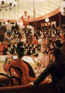 James Jacques Joseph Tissot - English Women of Paris The Circus Lover