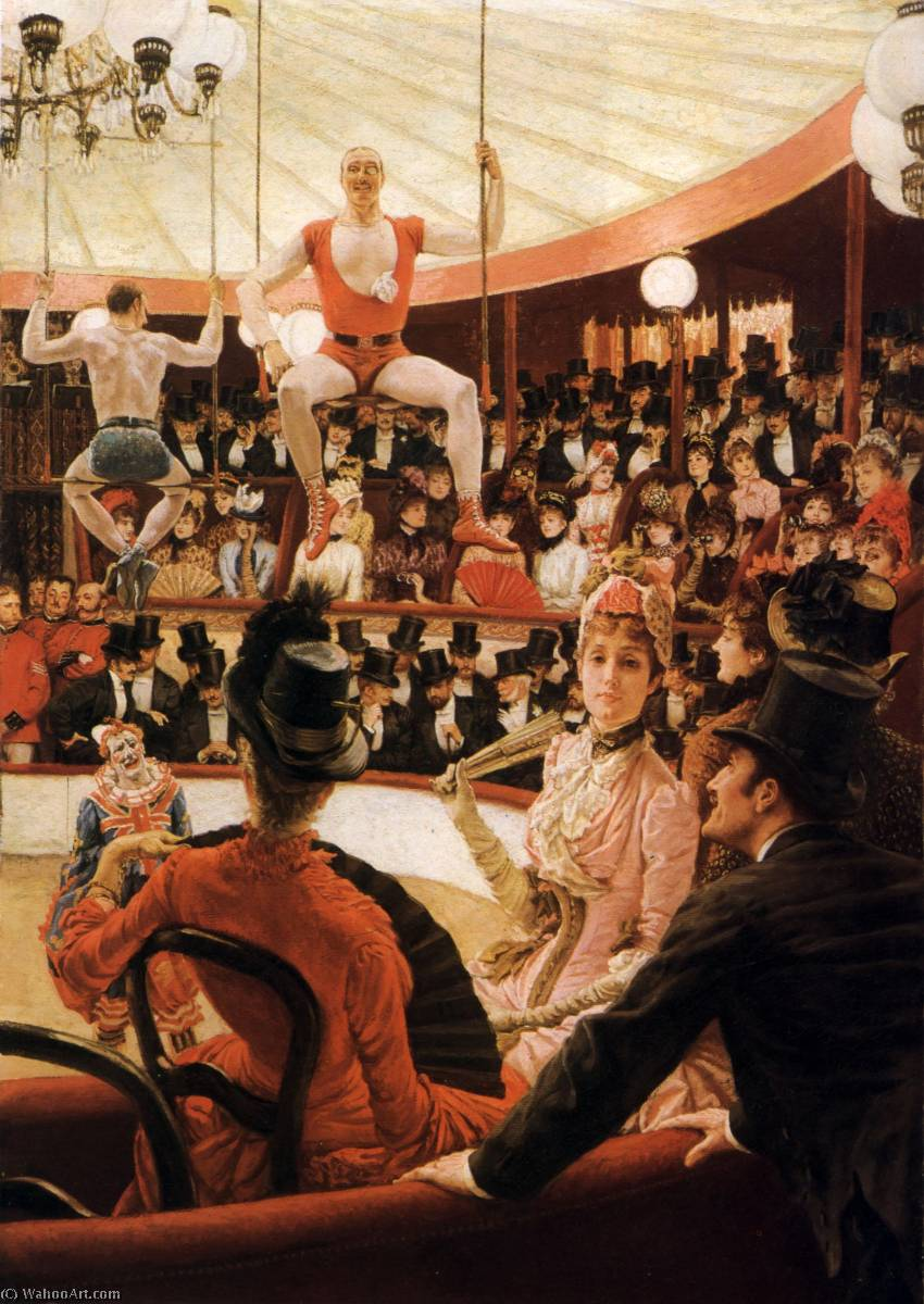 famous painting English Women of Paris The Circus Lover of James Jacques Joseph Tissot