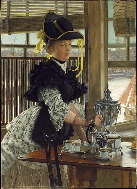 famous painting Tea of James Jacques Joseph Tissot