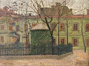 Vladimir Davidovich Baranov Rossine - The Green House on the Square