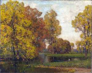 Alfred East - Golden Autumn