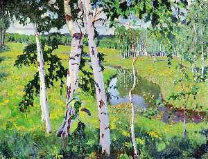 Arkady Rylov - Landscape with River