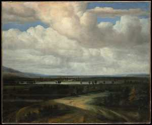 Philips De Koninck - A Panoramic Landscape with a Country Estate