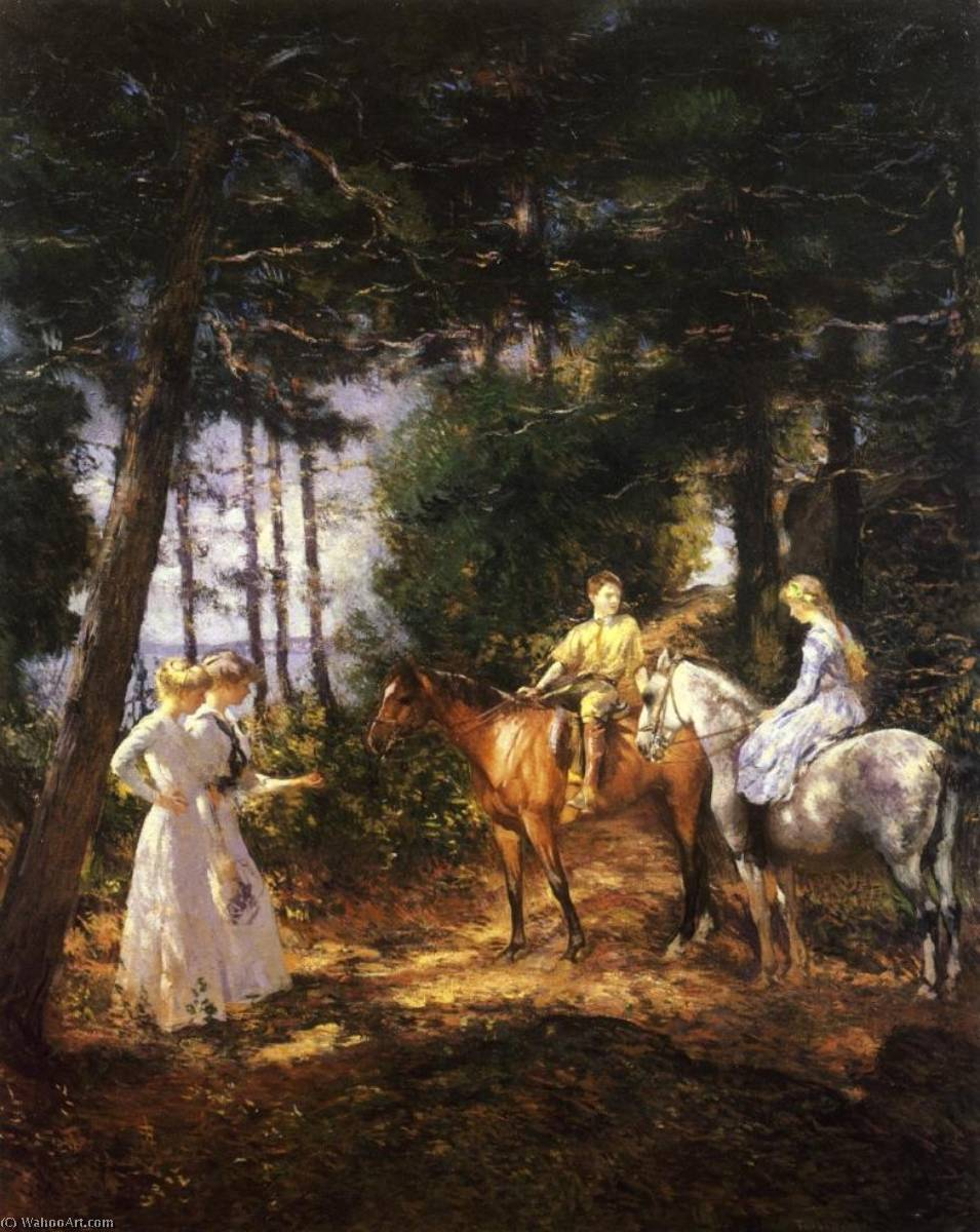 famous painting My Children in the Woods of Edmund Charles Tarbell