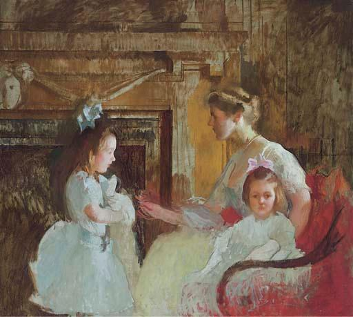 famous painting Mrs. George Putnam and Her Daughters of Edmund Charles Tarbell