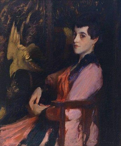 famous painting Lady in Pink of Edmund Charles Tarbell