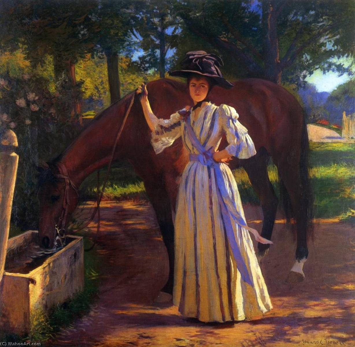 famous painting Girl and Horse of Edmund Charles Tarbell