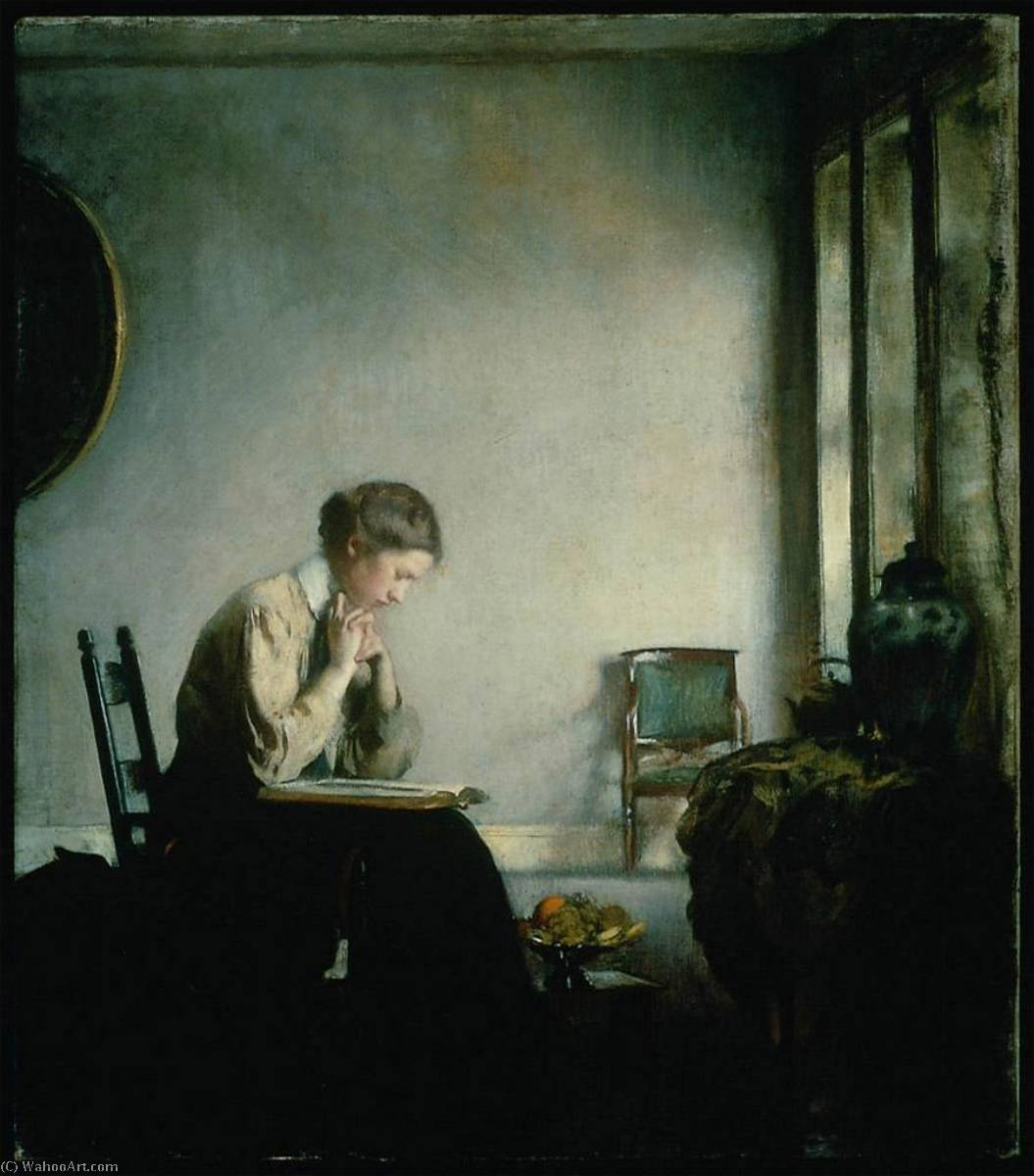 famous painting Girl Reading of Edmund Charles Tarbell