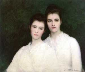 Edmund Charles Tarbell - Emeline and Josephine Tarbell (The Artist's Wife and Daughter)