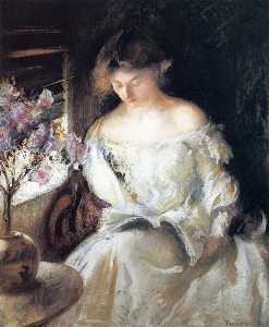 Edmund Charles Tarbell - Girl Reading (by a Window)