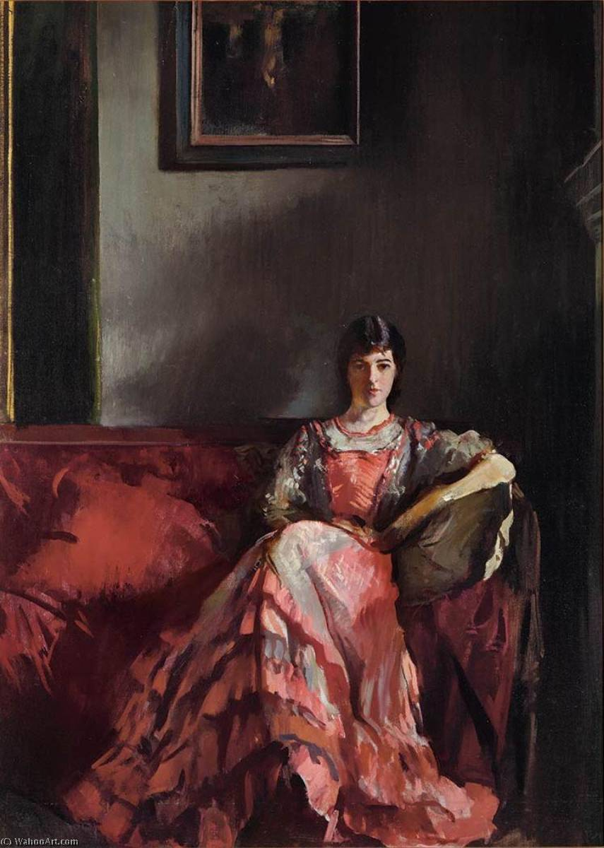 famous painting Mercie in Room Interior of Edmund Charles Tarbell