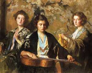 Edmund Tarbell - My Three Granddaughters