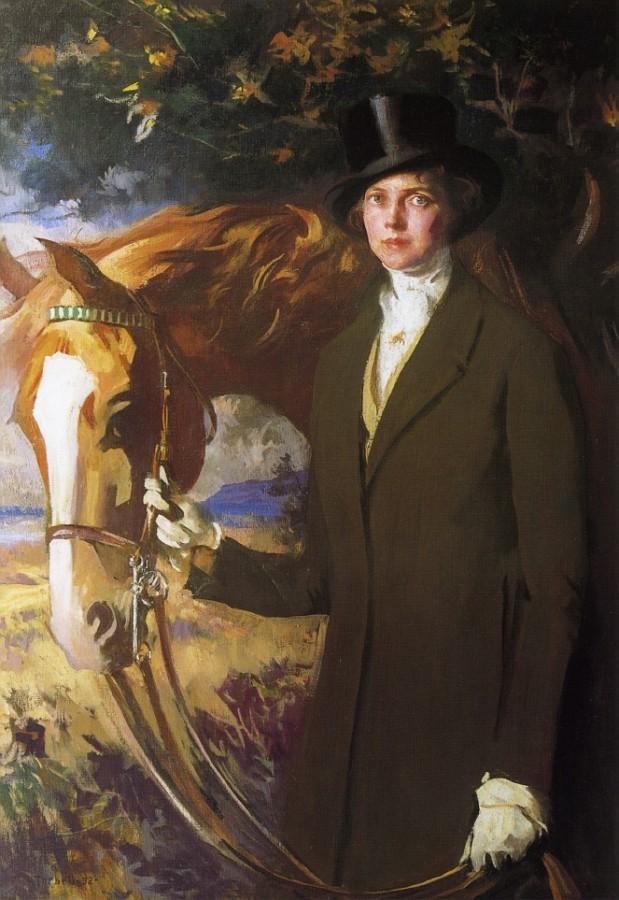 famous painting Mary and Eaglet of Edmund Charles Tarbell