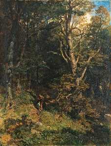 Emil Jacob Schindler - Der Kuss im Wald (Embrace in the Forest)