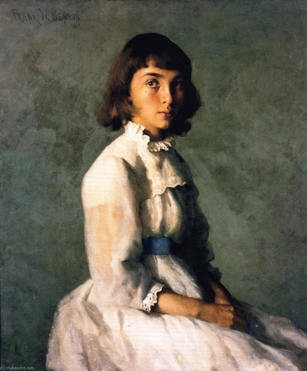 famous painting My Sister (also known as Portrait of Betty) of Frank Weston Benson