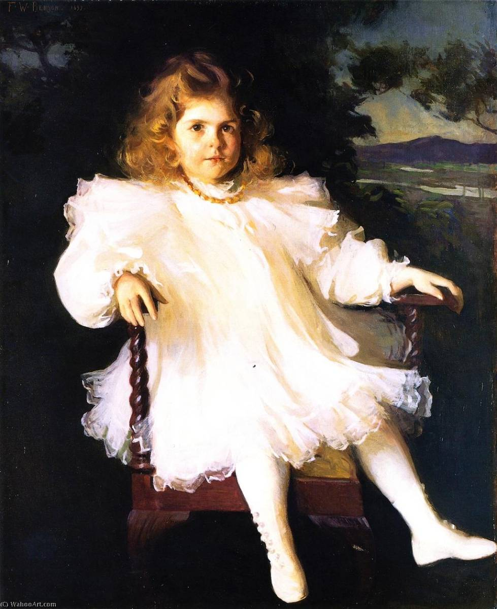 famous painting Miss Westinghouse (also known as Young Girl in White Dress) of Frank Weston Benson