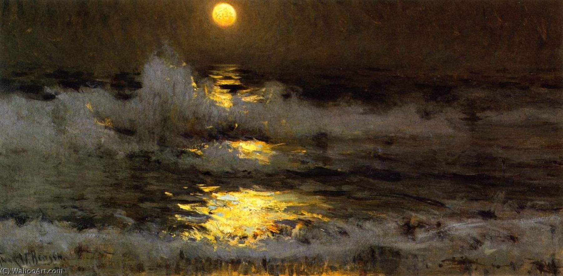 famous painting Moonlight (also known as Moonlight on the Waters) of Frank Weston Benson