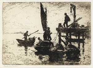 Frank Weston Benson - Boats at dawn
