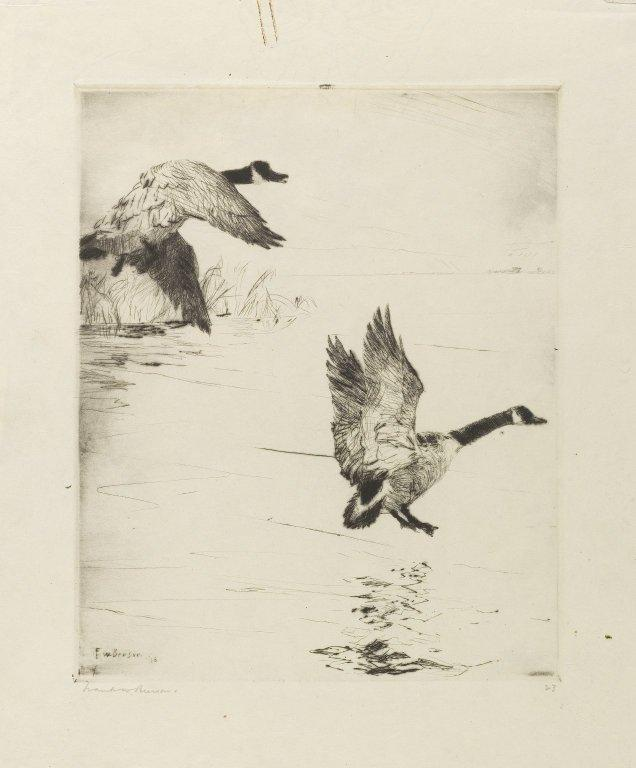 famous painting Geese Alighting of Frank Weston Benson