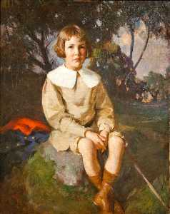 Frank Weston Benson - Atherton Loring Jr. age 6 of Boston's Duxbury, Massachusetts