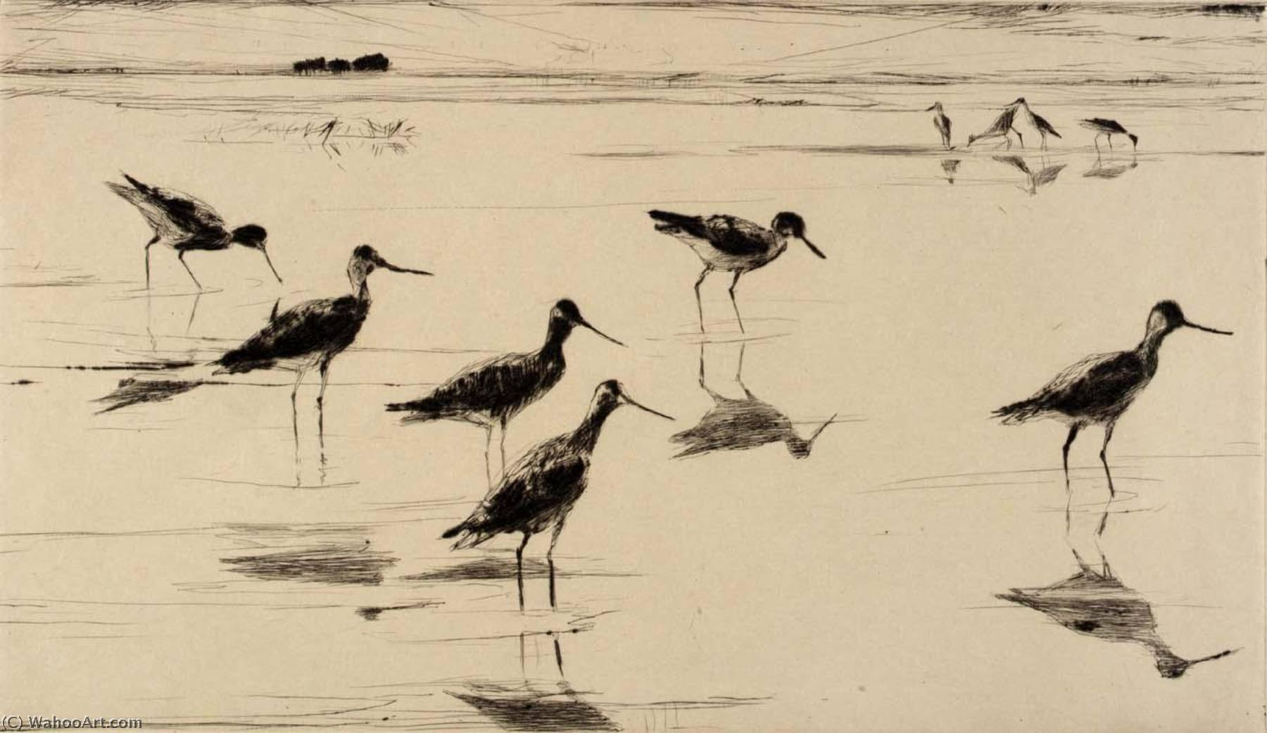 famous painting Waders of Frank Weston Benson
