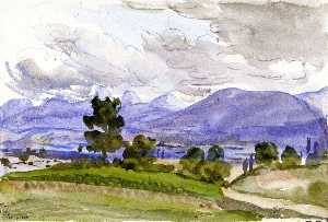 Marie Bracquemond - Landscape Showing the Environs of Divonne