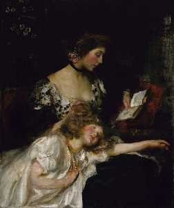 James Jebusa Shannon - Mother and Child (also known as Lady Shannon and Kitty)